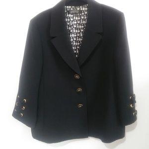Women's Kasper  Black Jacket/Blazer  Size 16